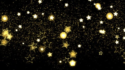 Glitter and Stars Decoration Background Golden - stock footage