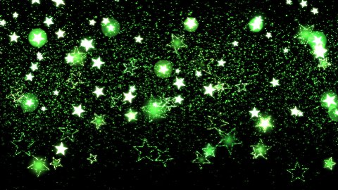 Glitter and Stars Decoration Background Green - stock footage