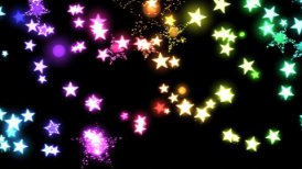 Glitter and Stars Decoration Background Rainbow - motion graphic