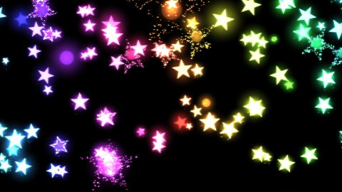 Glitter and Stars Decoration Background Rainbow - stock footage