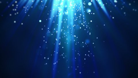 magic blue light rays and particles loop  - stock footage