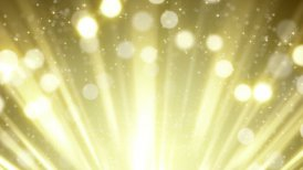 gold rays and bokeh circles abstract loopable background