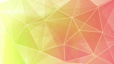 abstract triangle geometrical green pink background loop  - stock footage