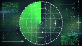 radar screen loopable technology background