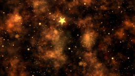 Abstract Star Shapes, Space - Loop Orange