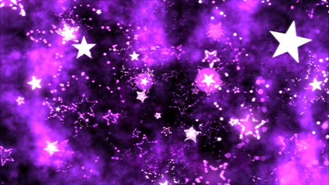 Abstract Star Shapes, Space - Loop Purple - stock footage