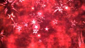 Abstract Star Shapes, Space - Loop Red