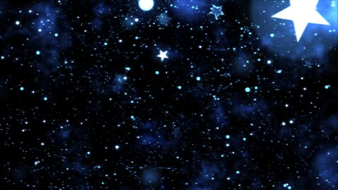 Abstract Star Shapes, Space - Loop Blue - stock footage