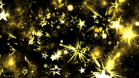 Abstract Star Shapes, Space - Loop Yellow - stock footage