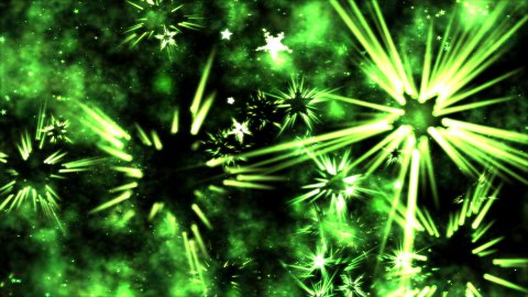Abstract Star Shapes, Space - Loop Green - stock footage