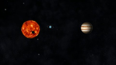 Animation of the Solar System - stock footage