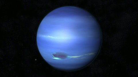 Animation of the Planet Neptune - stock footage