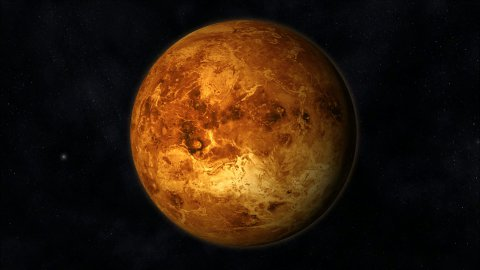 Animation of the Planet Venus - stock footage