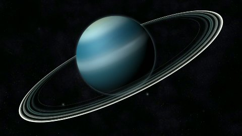 Animation of the Planet Uranus - stock footage