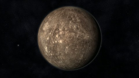 Animation of the Planet Mercury - stock footage