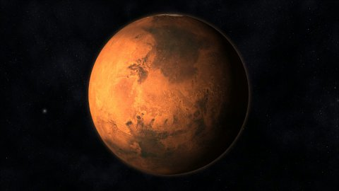 Animation of the Planet Mars - stock footage