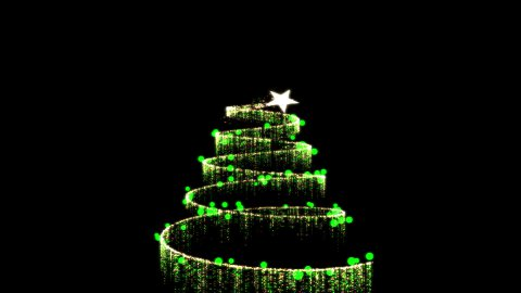 Christmas Tree Creation Gold/Green - stock footage