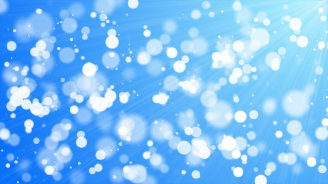 bokeh - 30fps loop - white circles on blue background - stock footage