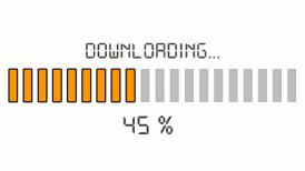downloading progress bar - digital orange - motion graphic