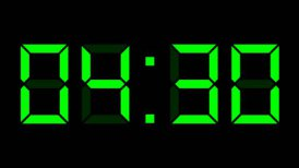 digital clock full 12h time-lapse - editable clip, motion graphic, stock footage