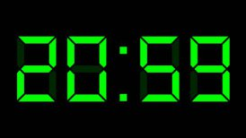 digital clock 12-24h time-lapse - editable clip, motion graphic, stock footage