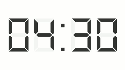 digital clock full 12h time-lapse - stock footage