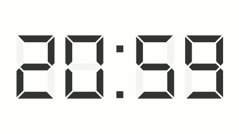 digital clock 12-24h time-lapse - stock footage