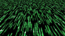 matrix code 3d - 30fps clear slow loop, green on black - editable clip, motion graphic, stock footage