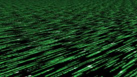 matrix code 3d - 30fps clear slow loop, green on black - motion graphic