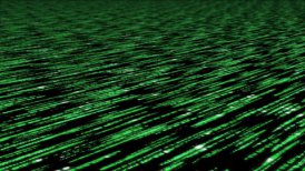 matrix code 3d - 30fps fast loop, green on black - editable clip, motion graphic, stock footage
