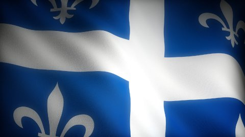 Flag of Quebec - stock footage