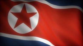 Flag of North Korea - motion graphic