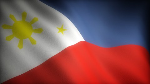Flag of Philippines - stock footage