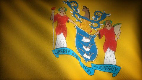 Flag of New Jersey - stock footage