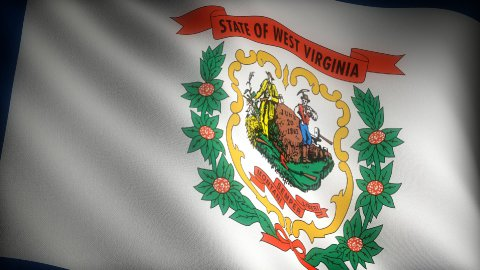 Flag of West Virginia - stock footage