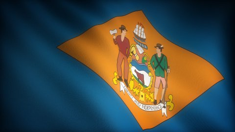 Flag of Delaware - stock footage