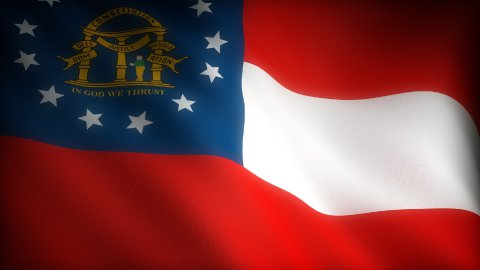 Flag of Georgia - stock footage