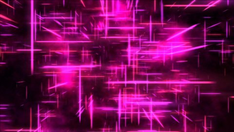 Travel through a grid of light beams - Loop Pink - stock footage