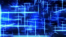 Travel through a grid of light beams - Loop Blue - motion graphic