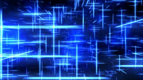Travel through a grid of light beams - Loop Blue - stock footage