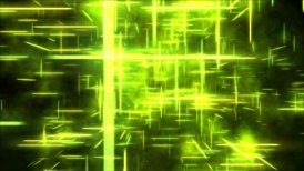 Travel through a grid of light beams - Loop Yellow - motion graphic