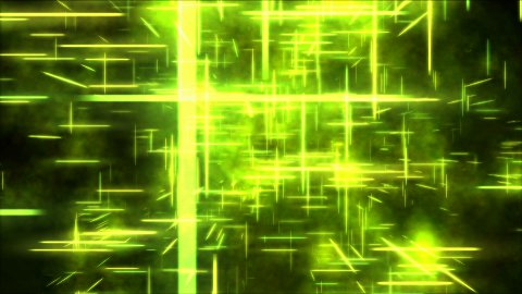 Travel through a grid of light beams - Loop Yellow - stock footage