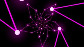 Abstract Ring Travel Animation - Loop Purple - motion graphic