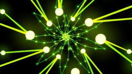 Abstract Ring Travel Animation - Loop Green Yellow - motion graphic