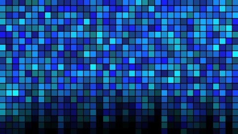 Blinking Tiles Background - Loop Blue - stock footage