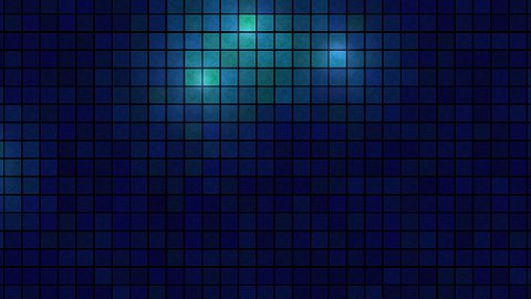 Lights Across Tiled Background - Loop Blue - stock footage