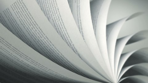 Turning Pages (Loop) English Book - stock footage