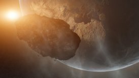 Asteroid Over Earth (Cinema HDTV FX) - editable clip, motion graphic, stock footage