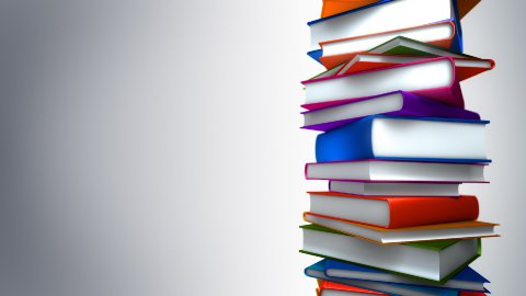 Colorful Books Stack (Loop) - stock footage