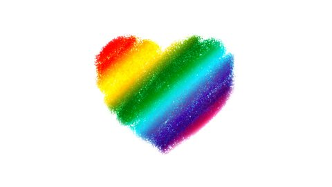 Rainbow Heart Drawing - stock footage
